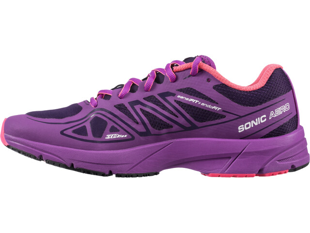 Salomon Sonic Aero Trailrunning Shoes Women cosmic purple/azalee pink/madder pink